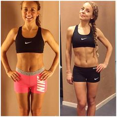 Benedetta sculpted incredible abs with the Tone It Up Nutrition Plan!