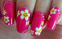 Diseños de uñas con flores, diseños de uñas con flores de esmalte.  Follow us! #uñasdecoradas #3dnailart #uñasdiscretas