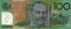 A pristine mint condition 2008 One Hundred Dollar banknote from Australia is on offer here. Getting hard to find in this condition so be quick and act now. Australian Money, 100 Dollar Bill, The 100, Coins, Painting, Things To Sell, Art, Attraction, Kunst