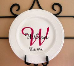 Personalized Monogramed Family Decorative Plate.10X10. $20.00 via Etsy. & Decorative Plate/Charger Personalized with Your Name. $10.50 via ...