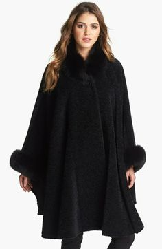 Blue Duck Wool & Alpaca Cape with Genuine Fox Fur Trim available at #Nordstrom