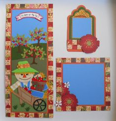 Apple Picking Border with Mat & Tag SOLD