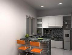 Desain dapur minimalis cantik, modern dan elegan. Dengan desain dapur modern maka rumah akan terlihat keren.