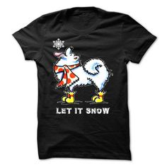 Awesome Samoyed Lovers Tee Shirts Gift for you or your family your friend:  Let it snow Tee Shirts T-Shirts