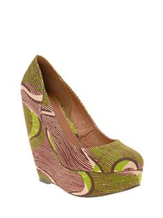 cute patterned wedges!