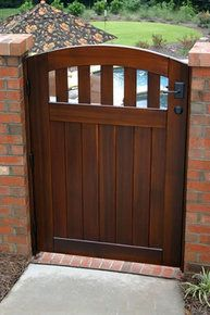 Rose City Wooden Side Yard Gate, with Latch, Hinges and Wood Jambs