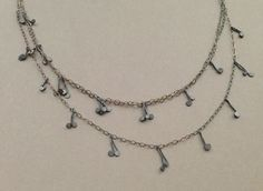 delicate handmade oxidized silver necklace!