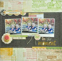 Layout: Be In The Moment ~New Webster's Pages~