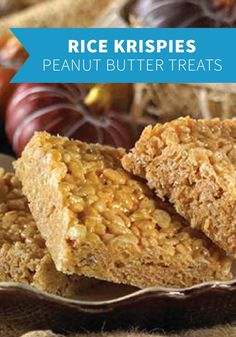 Rice Krispies Peanut Butter Treats – You won't mind if these peanut-buttery squares stick to the rood of your mouth. And if you make them with Rice Krispies Gluten Free cereal, margarine and gluten-free marshmallows, everyone in the family can enjoy them!