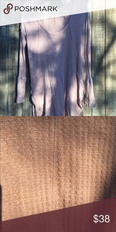 Free People Drippy Thermal Beautiful Dusty Rose Medium thermal, am so upset! I love this color sooo much, and when I bought this, I thought it was a small 😭 Hard to find color! Price is firm Very Good Condition  First 4 pics show color best Free People Tops Tees - Long Sleeve