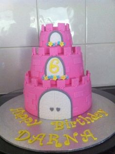 pink castle cake by shell72 on cakecentralcom