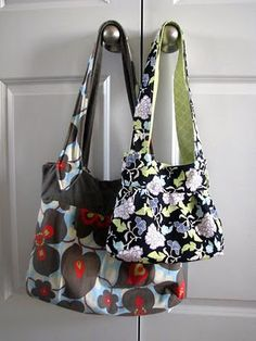 free bag/purse pattern with printing instructions to make the bag small, medium, or large  * I want one of these! *