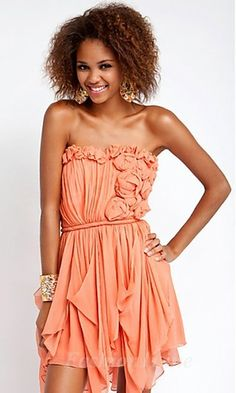 pink dress  I could never pull this off, but it's so cute!