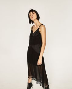 ZARA - WOMAN - SHEER CAMISOLE DRESS