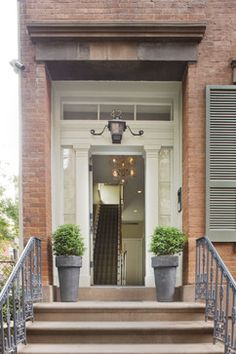 New York City townhouse - traditional - entry - new york - Dufner Heighes Inc