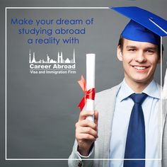 Students aiming at #studyinginCanada, partner with @CareerAbroad.  We help you realise your dream to study in the best #colleges or #universities in #Canada!  Visit: http://www.careerabroad.ca/study-abroad-canada/ for more.