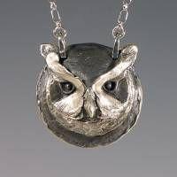 Owl Jewelry, Animal Spirit Jewelry, Handcrafted Silver Owl Pendant