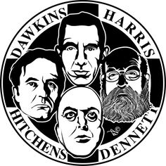 The Four Horsemen: Richard Dawkins, Daniel Dennett, Sam Harris and Christopher Hitchens