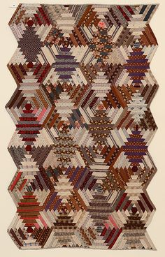 One of these days... Windmill Blades Log Cabin Quilt: Ca. 1890; Va.