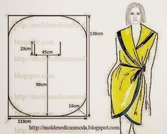 Moda e Dicas de Costura:MODEL DRESS / ROBE / CUTTING EASY Is this saying to cut 2 of that pattern? I am not sure. Anyone know?.