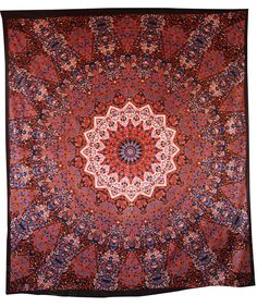 Colorful screen printed cotton bed sheet, tapestry, throw, wall hanging.Radiant shades of vibrant color in a beautiful traditional pattern make for a very majestic and beautiful tapestry!