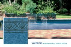 2015 Loop Loc Liner Options - Premier Pool & Spa - Valencia with Midnight Blue Granite Bottom