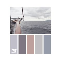11 peaceful paint palettes inspired by the sea ❤ liked on Polyvore featuring colors, design seeds, backgrounds, colours and fillers