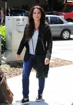Publicity work: The 46-year-old had been in New York where she joined her RHOBH co-stars L...