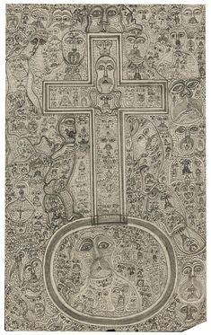 Edmund Monsiel Visionary Art, Outsider Art, Naive, The Outsiders, Monogram, Drawings, Artist, Pattern, Monogram Tote