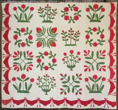Grand Antique C1850S Baltimore Album Quilt by R Ella Morris | eBay, vintageblessings