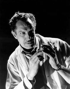 "from ""The Tingler"", Vincent Price about to ""shoot up LSD"" . Classic sequence, especially for 1959!"