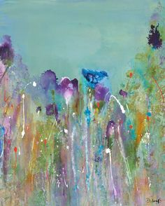 In The Purples by Deborah Brenner Painting Print on Wrapped Canvas