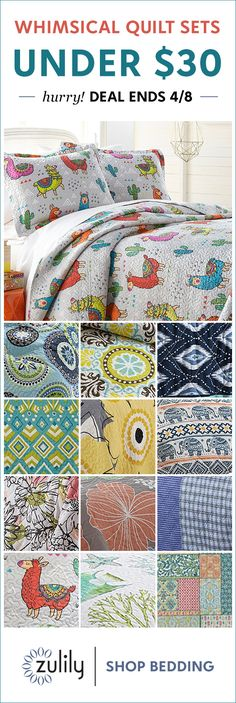 Sign up to shop quilts under $30. Cozy-chic covers set your dreams adrift. Deal ends 4/8, don't miss out! Girls Bedroom, Bedroom Decor, Bedrooms, Big Girl Rooms, Bedding Shop, Cozy House, Kids Room, Sweet Home, New Homes
