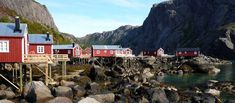 Lofoten, Norway  Houses on the water in Lofoten Islands, north Norway