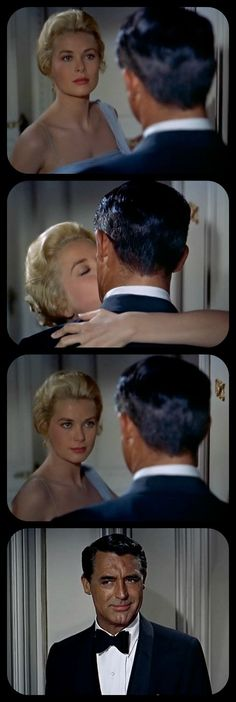Grace Kelly and Cary Grant in To Catch a Thief 1955 My favorite scene in this film. The look on that face... I think he's the only actor who can make that gesture.