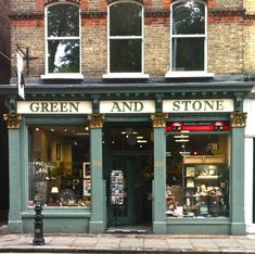 Vintage Shop Exteriors & Store Fronts •~• with apartment above (Green and Stone, Kings Road, Chelsea)
