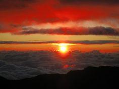 Haleakala Summit Sunrise in Maui, Hawaii