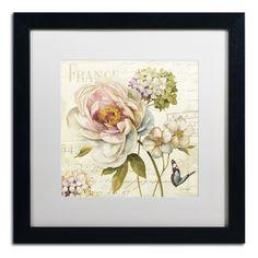 Marche de Fleurs III by Lisa Audit Matted Framed Painting Print