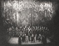 """"""" Die Meistersinger von Nürnberg """" 3.Aufzug 2.Bild 1961 Wieland Wagner  Bühnenphoto"""