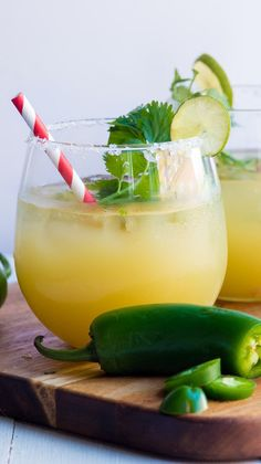 Pineapple Cilantro Jalapeno Margarita Nothing says party quite like a margarita! This Pineapple Cilantro Jalapeño Margarita is the perfect signature drink to keep things spicy!