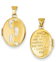 Footprints in the Sand Locket