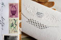 Beautiful envelope and return address