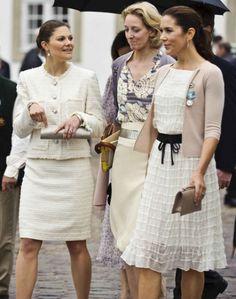 Crown Princess Victoria of Sweden, Countess von Pfeil und Klein-Ellguth (Princess Alexandra Sayn-Wittgenstein Berleberg ) and Crown Princess Mary of Denmark