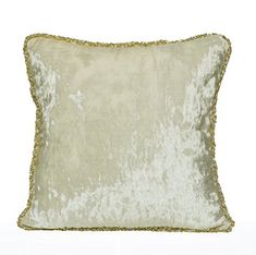 Amore Beaute Handmade Customisable Decorative Cushion Cover In Cream Velvet With Silver and Gold Bead Cording Luxe Pillow Wedding Decor Cushions Housewarming Gift cm) Velvet Pillows, Decorative Throw Pillows, Pillow Covers, Gw, Cushion, Smile, Design, Amazon, Home Decor