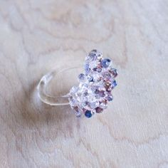 Glass Cluster Ring - Multi ~Urban Revisions $44  http://urban-revisions.com/?product=glass-cluster-ring-multi