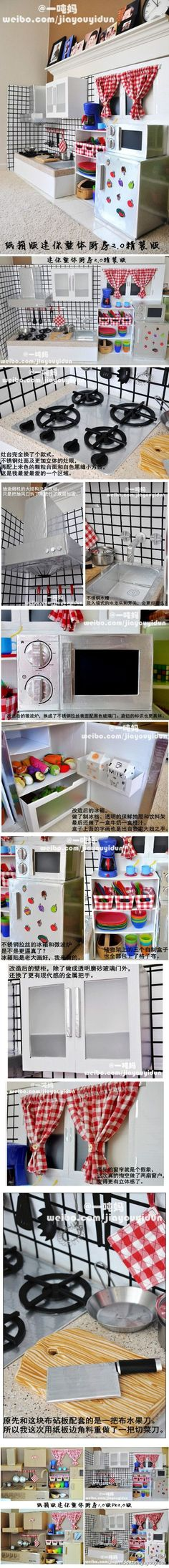 so a chinese mom, who lived in usa right now, she wants to buy a mini kitchen toy for her two daughters, but she found that the toy in shop are expensive, and small, so she decided to make one for …