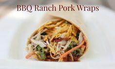 BBQ Ranch Pork Wraps: 4 little Fergusons Pork Wraps, White Meat, Pork Loin, Kitchen Hacks, Pulled Pork, Pork Recipes, Ham, Nom Nom, Ranch