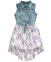 Not for Easter, just because!  :)  It would be so cute with cowboy boots!!                                                        GUESS Little Girls' Denim-to-Chiffon Dress