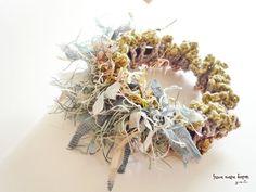 草木花のシュシュ : viola + sakura : 2x