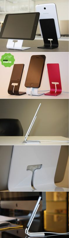 SETA: a universal and timeless tablet stand that effortlessly holds your device and charging cable.
